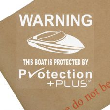 Boat Protected By Protection Plus-Sticker,GPS,Security Window Warning Signs,Vessels,Speed,Barges